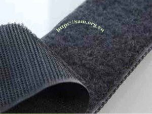 Hook-and-loop fasteners, hook-and-pile fasteners or touch fasteners, velcro.