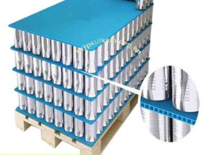 Pallet Layer Pad PP Round Corner Corrugated Plastic Dividers/Cans Pad
